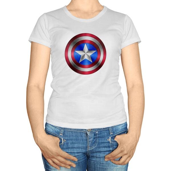 Женская футболка Captain America, цвет белый