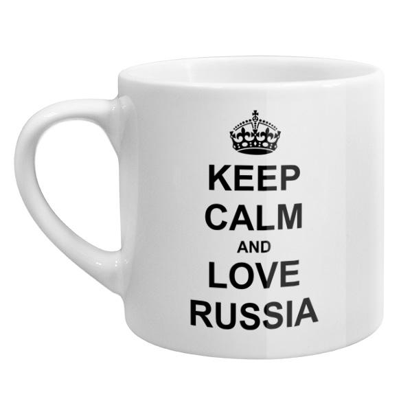 Кофейная чашка Keep calm and love Russia