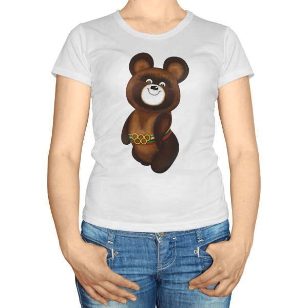 Женская футболка Олимпийский мишка