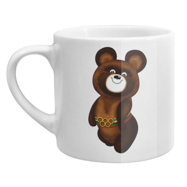 Кофейная чашка Олимпийский мишка, цвет белый