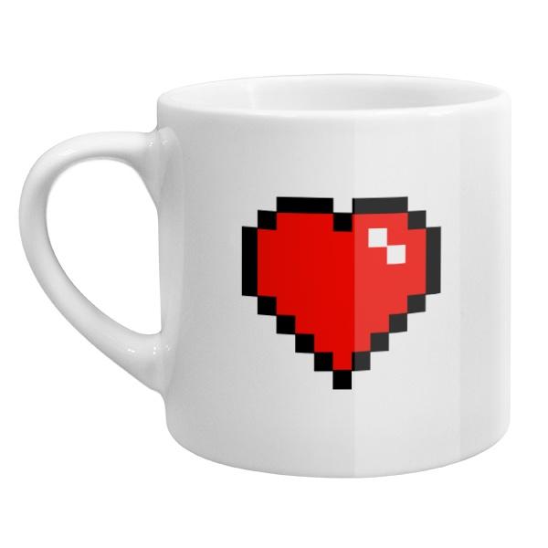 Кофейная чашка Пиксельное сердце