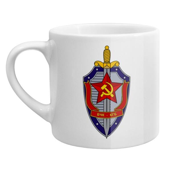 Кофейная чашка ВЧК КГБ, цвет белый