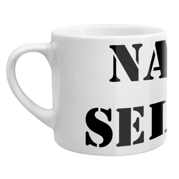 Кофейная чашка Естественный отбор, цвет белый