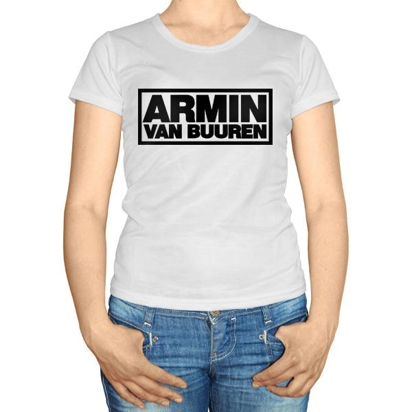 Женская футболка Армин Ван Бюрен, цвет белый