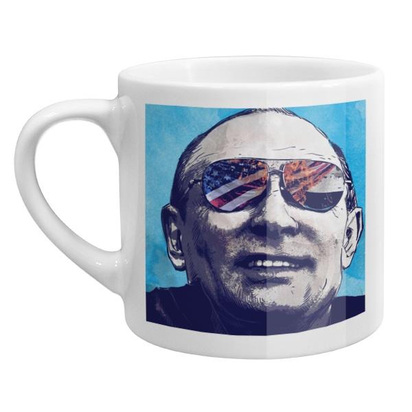 Кофейная чашка Путин, цвет белый
