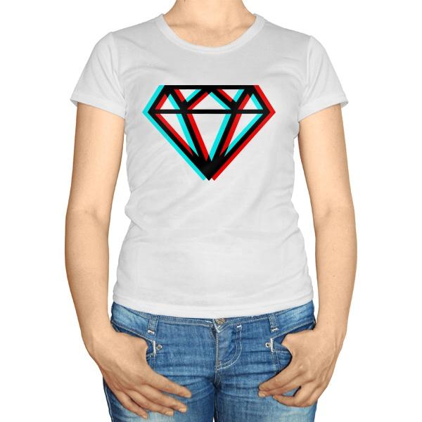 Женская футболка Стерео Бриллиант