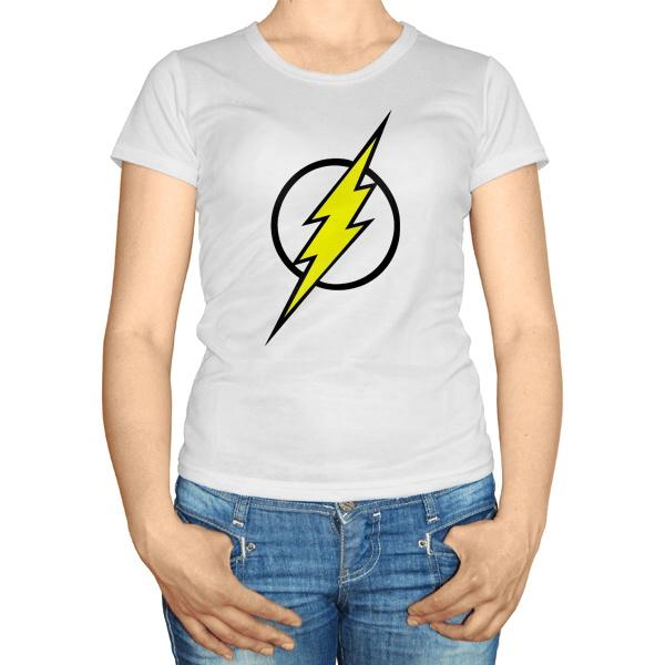 Женская футболка Молния Флэша