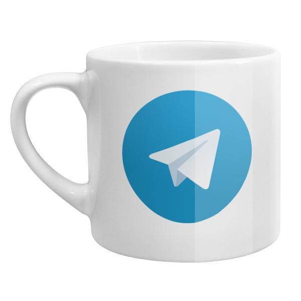 Кофейная чашка Telegram
