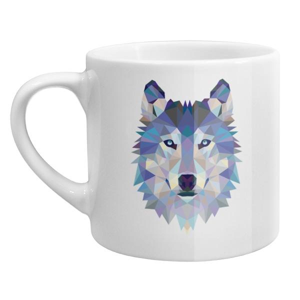 Кофейная чашка Полигональный волк