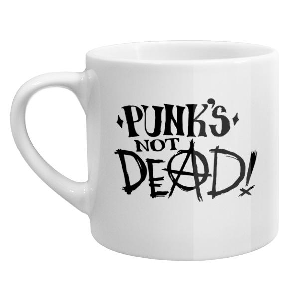 Кофейная чашка Punks not dead, цвет белый