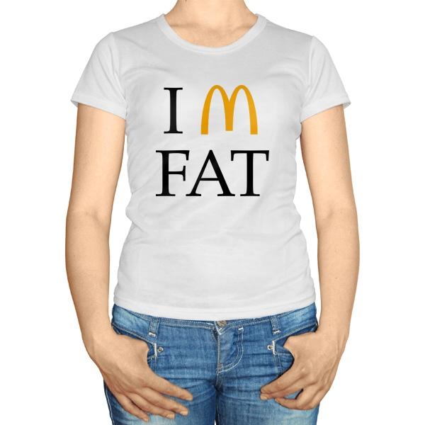 Женская футболка I am fat