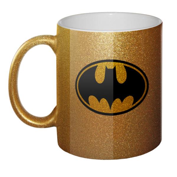 Золотистая кружка Batman, цвет золотистый