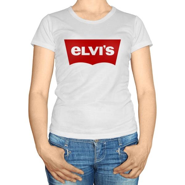 Женская футболка Elvis, цвет белый