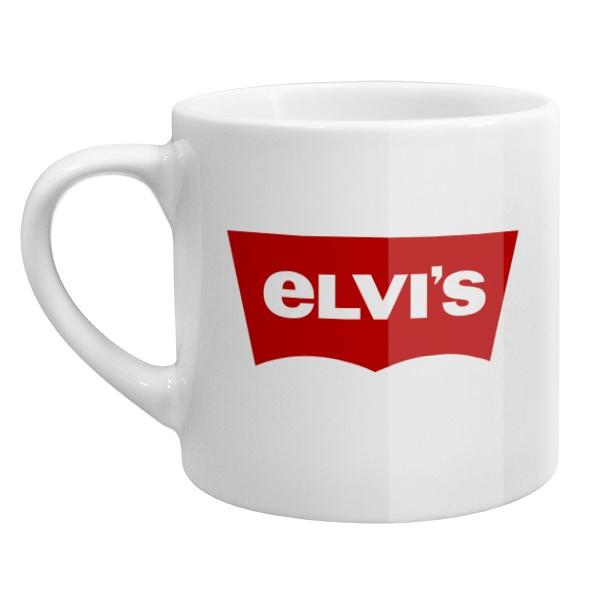 Кофейная чашка Elvis, цвет белый