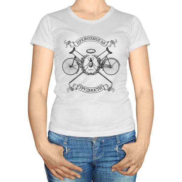 Женская футболка Костыли-Велосипеды