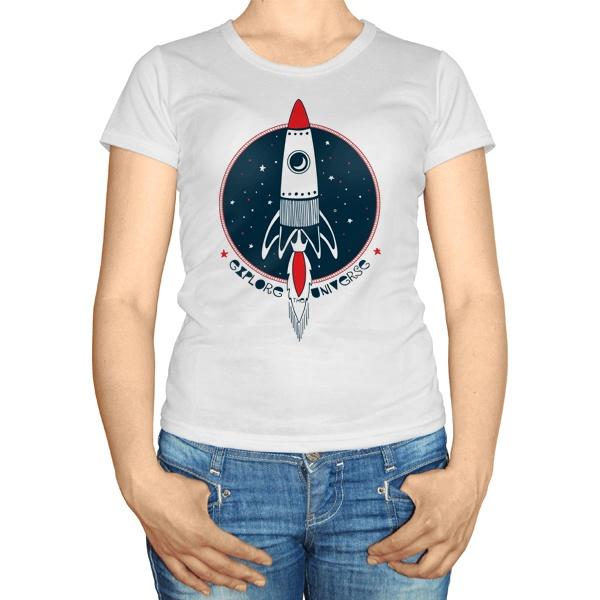 Женская футболка Ракета Explore Universe