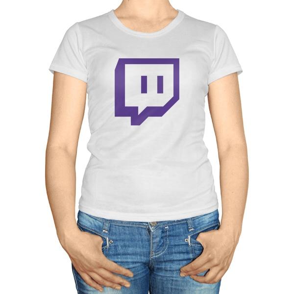Женская футболка Твич, цвет белый