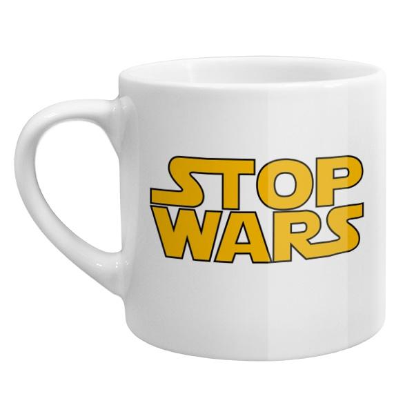 Кофейная чашка Stop Wars