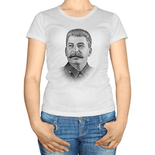 Женская футболка Сталин