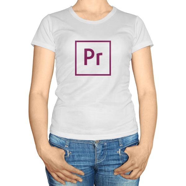 Женская футболка Pr