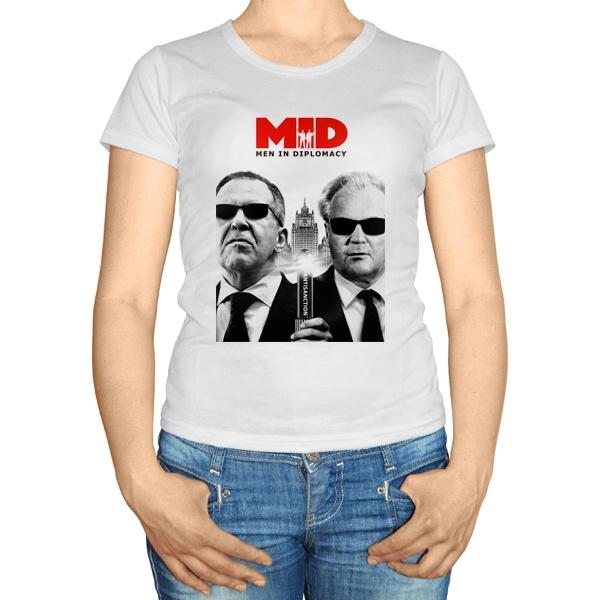 Женская футболка MID: Men in Diplomacy