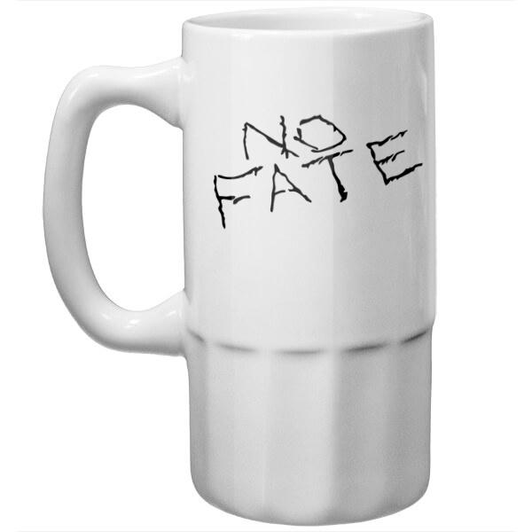 Пивная кружка No fate (Нет судьбы), цвет белый