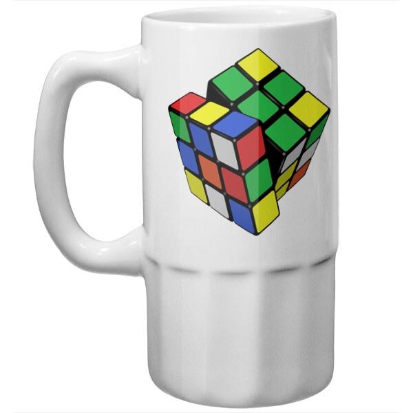 Пивная кружка Кубик Рубика