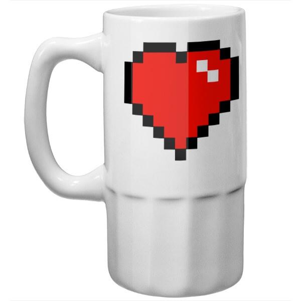 Пивная кружка Пиксельное сердце