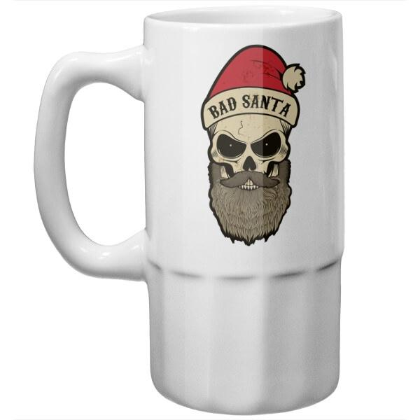 Пивная кружка Плохой Санта