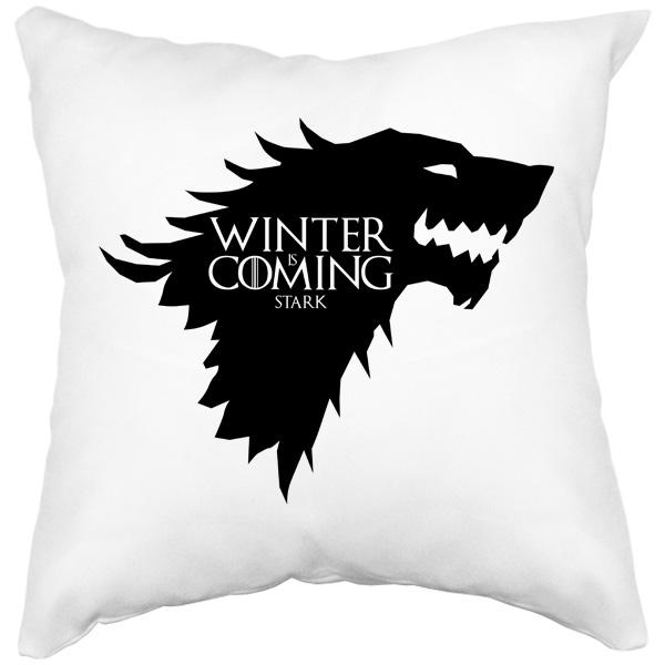 Белая подушка Winter is coming