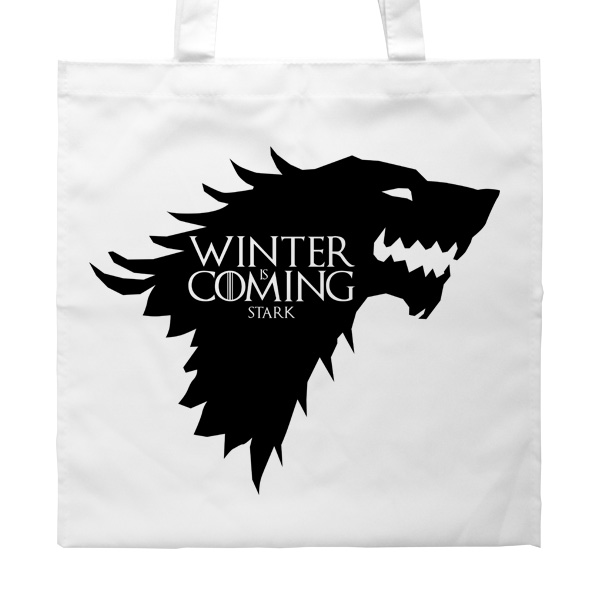 Белая сумка Winter is coming