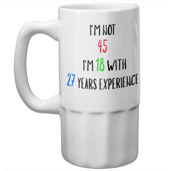 Пивная кружка Мне не 45 лет