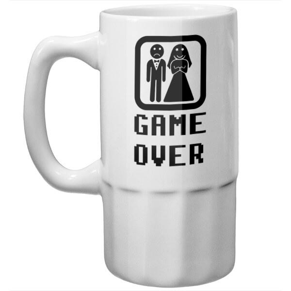 Пивная кружка Game Over (свадьба)