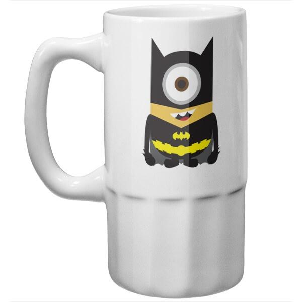 Пивная кружка Миньон в костюме Бэтмэна