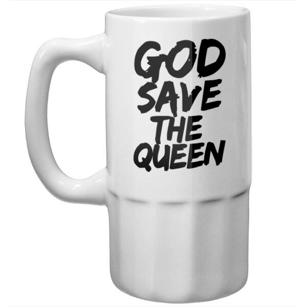 Пивная кружка Боже, храни королеву