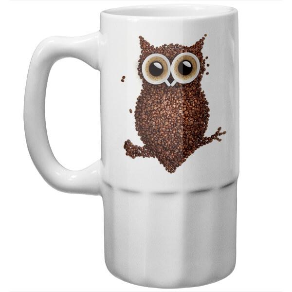 Пивная кружка Кофейная сова