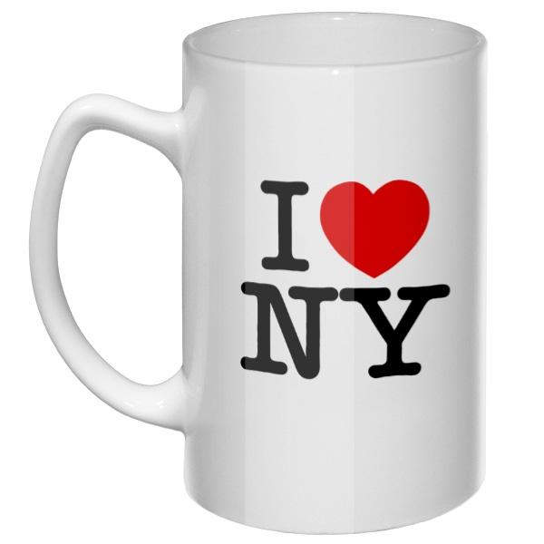 Большая кружка Я люблю Нью-Йорк