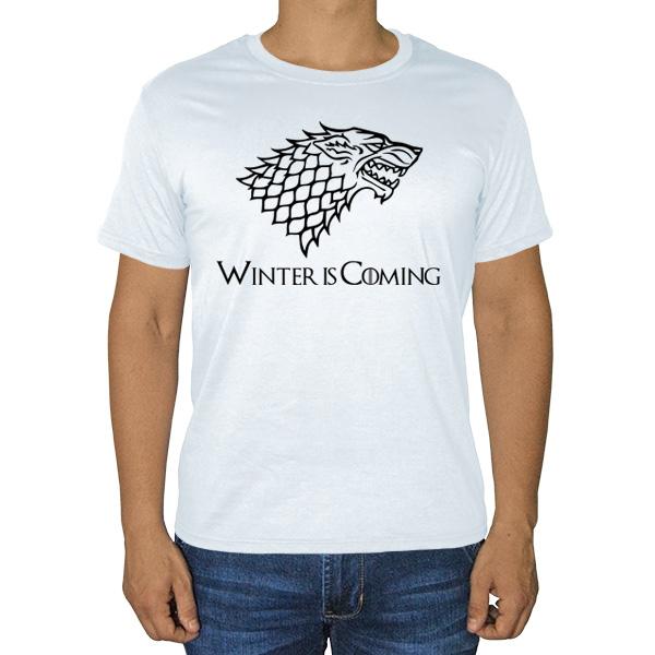 Футболка с рисунком волка (Игра престолов)