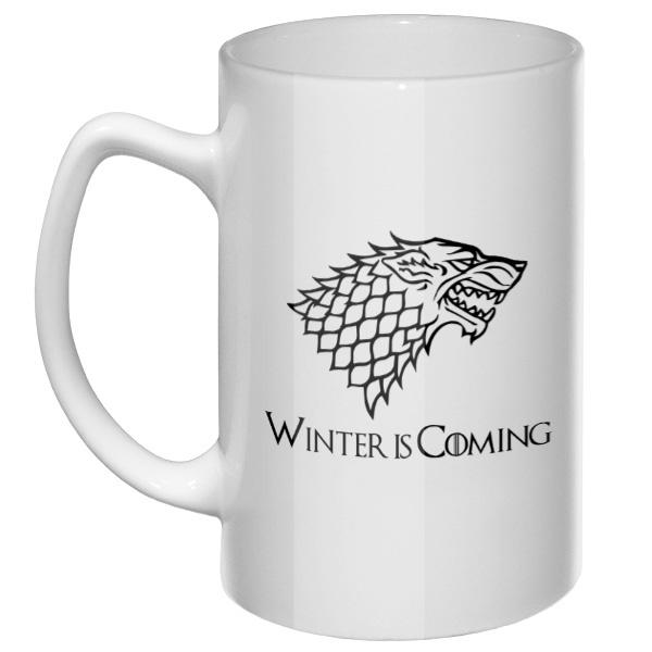 Большая кружка Winter is coming Stark