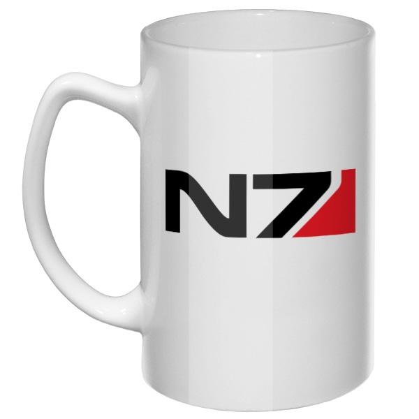 Большая кружка N7, цвет белый