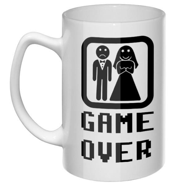 Большая кружка Game Over: женился