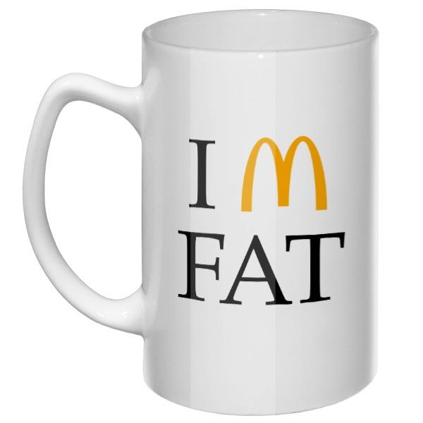 Большая кружка I am fat