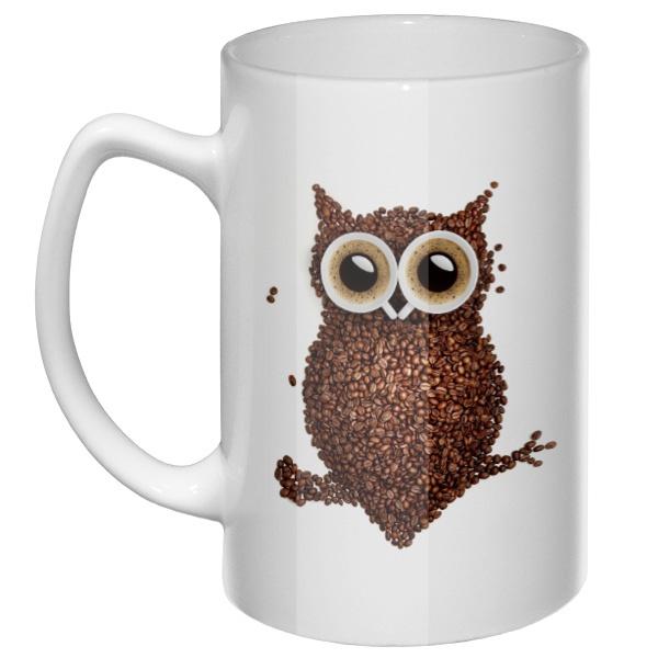 Большая кружка Кофейная сова