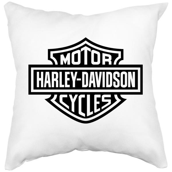 Подушка белая Harley Davidson