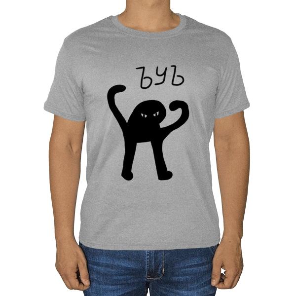 ЪУЪ СЪУКА, серая футболка (меланж)