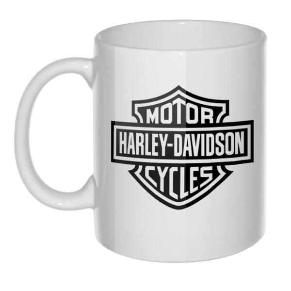 Белая кружка Harley Davidson