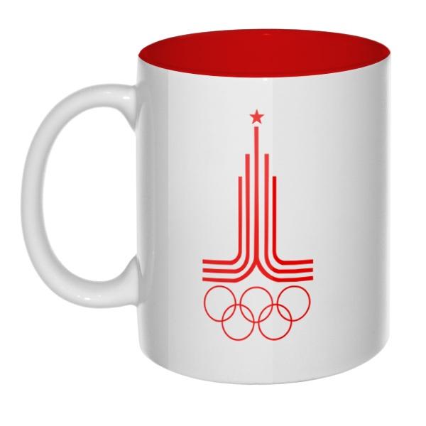 Эмблема Олимпиады 1980, кружка цветная внутри