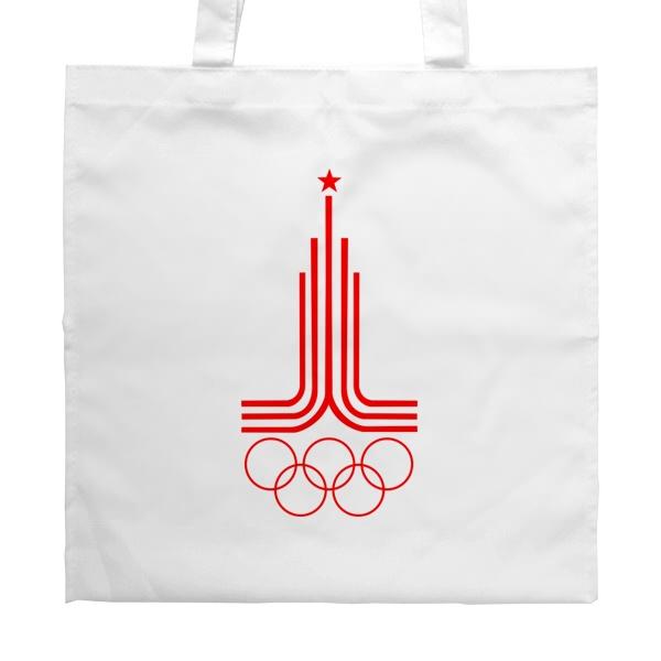 Белая сумка Эмблема Олимпиады 1980