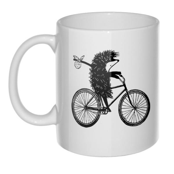 Кружка Ежик на велосипеде