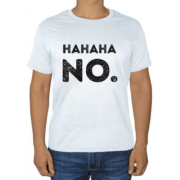 Белая футболка Hahaha No.